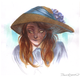 Girl in Hat by N-A-R-I