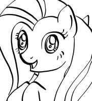 Calligraphy Brush Fluttershy by AShadowofTruth