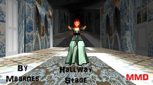 MMD Hallway Stage by mbarnesMMD