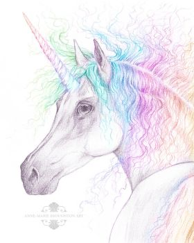 Rainbow Unicorn by Mocten