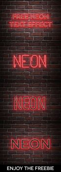 Free Neon PSD Text Effect by Ahsaninspire