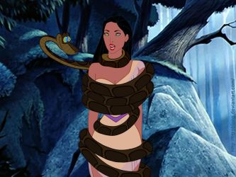 Kaa meets Pocahontas by FitzOblong