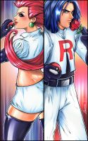 Double Trouble - Team Rocket by theharmine