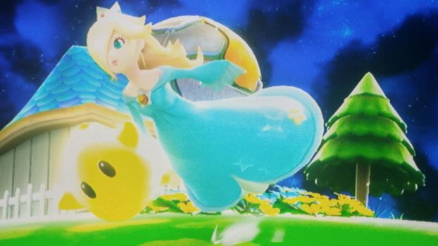 Ssb screenshot: flying with mama by zeldacomixmaker
