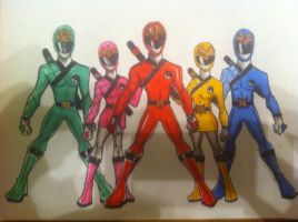 Sentai Ninja Group by buddyfrank