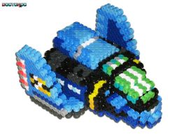 Blue Falcon 3D Beadsprite Frnt by DrOctoroc