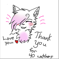 Thank Youu for 40 watchers!! by Melliepow34
