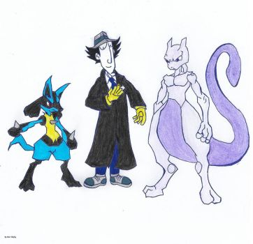 lucario and mewtwo kiss