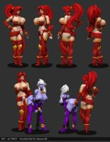 Veronika Red WIP04 by Texelion