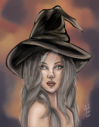 Pastel Fall Witch by velvetlace-x
