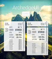 ArchedgeUI CARD Conky by mzpsh