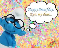 Epic's Smurfday by acla13