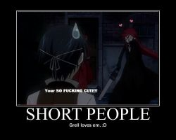 Grell loves short people by happyfeet19942008