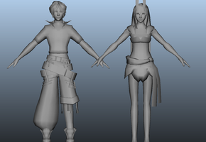 3d Lucius + Alcyone wip by hyamei