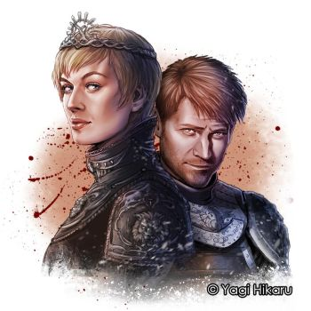 [Game of Thrones]Cersei and Jaime Lannister by yagihikaru