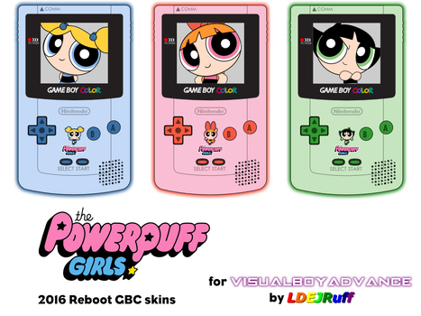 PPG 2016 Reboot GBC skins for VBA by LDEJRuff