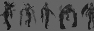 concept art sketches by phongshader