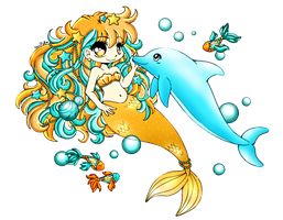 Under the sea coloring by Orangesyum88