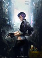Major : Ghost in the shell by pondoeon