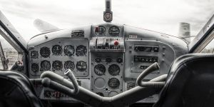de Havilland Beaver airplane cockpit by RichardjJones
