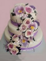 Summer Forest Wedding Cake by 6eki