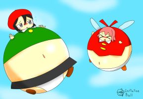 Adeleine and Ribbon inflation by Inflationball