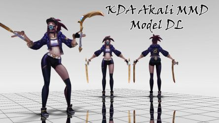 KDA Akali MMD Model DL by KadajoGameOver