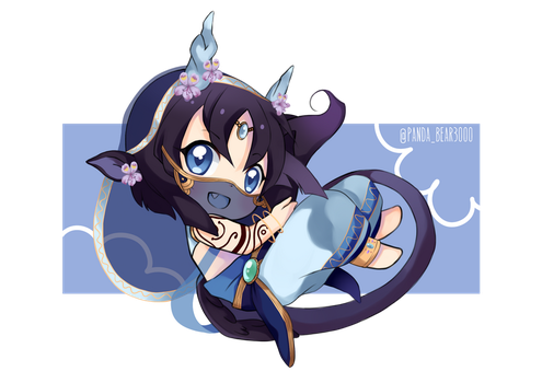 CHIBI COMMISSION- TorikoHana by PandaBear3000
