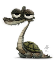 Daily Paint #637. Turtlesaurus by Cryptid-Creations