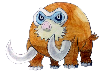 Daily Drawing/Deviation Challenge Day 31 Mamoswine by Deevins
