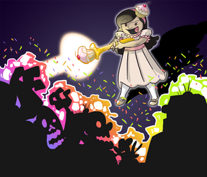Commission - Cupcake Princess Versus the Zombies by Miss-Interocitor