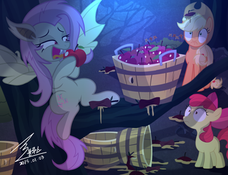 MLP Apple thief by 0Bluse