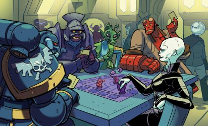 At the gaming table by Onikaizer