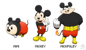Mimi - Mickey - Mickfoley (Old design) by Ry-Spirit