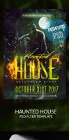 Haunted House Halloween PSD Flyer Template by ImperialFlyers
