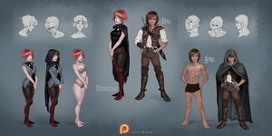 Narelle and Dai - reference sheet by AonikaArt