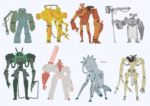 Little robots by Artezianin