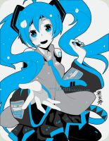 Vocaloid- Miku Miku by draa