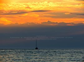 Sailboat at Sunset by Foozma73