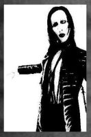 Marilyn Manson Painting-69.00 by Hodgy-Uk