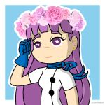 Felicia with her flower crown by XxTove-Love99xX
