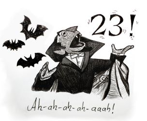 Inktober16 #23: The Count by Woschaebedip