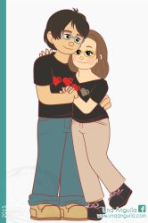 Commission Pixel Hearts Couple by electra-gretchen