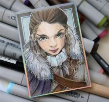 ACEO 067 Arya Stark/ Game of Thrones by WojikHell