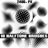 Halftone Photoshop Brush Pack by Brushportal