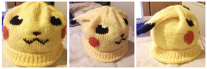 Floppy-eared Pikachu Hat by Stitch-Happy