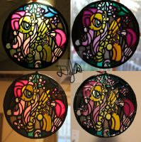 Fluttershy Stained Glass Painting by DevicTemple