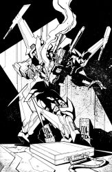 TF MTMTE 38 cover lineart by markerguru