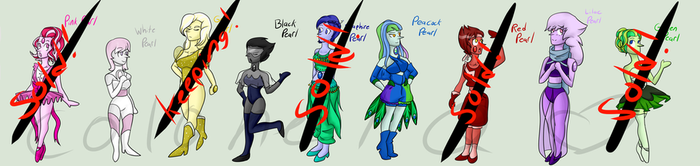 Gemsona Adoptables: Pearls! (4/9 OPEN)(HALF OFF) by xSummerStream