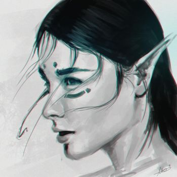 Elf girl speed painting by MatteoAscente